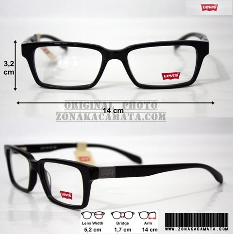 Jual Frame Kacamata ORIGINAL Levis LS60111 Black - Zona ... f1500bdb99