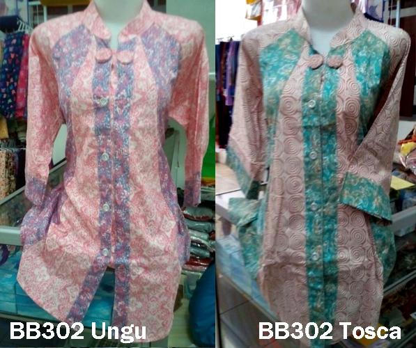 Jual Baju Batik Muslim BB302 Atasan Baju Batik Lengan Panjang ... 05c989e2bb