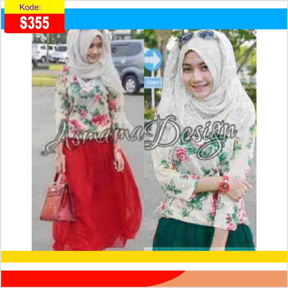 Jual Baju Muslim Wanita Remaja S355 Asmama - Toko Baju Murah ... ba53c2ed1f
