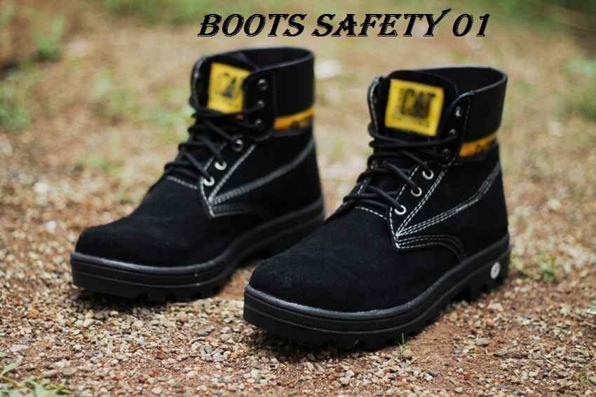 Jual Sepatu Safety Boot Kulit Suede 18012015 - Sepatu Sekolah Murah Oke | Tokopedia