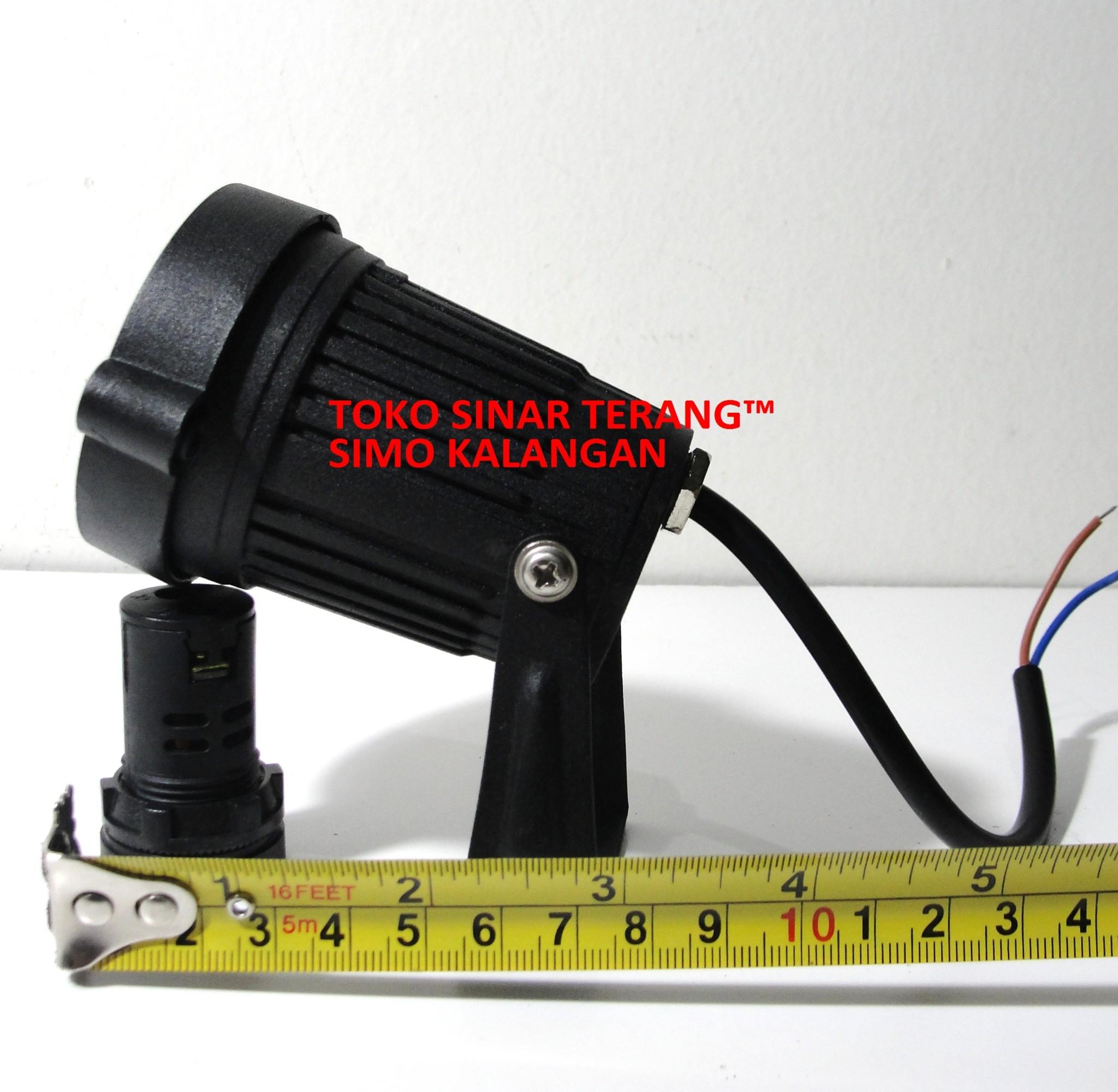 Jual LED TAMAN 3W KUNING WARM WHITE Lampu Tancap Sorot Bulat 3x1 W OUTDOOR