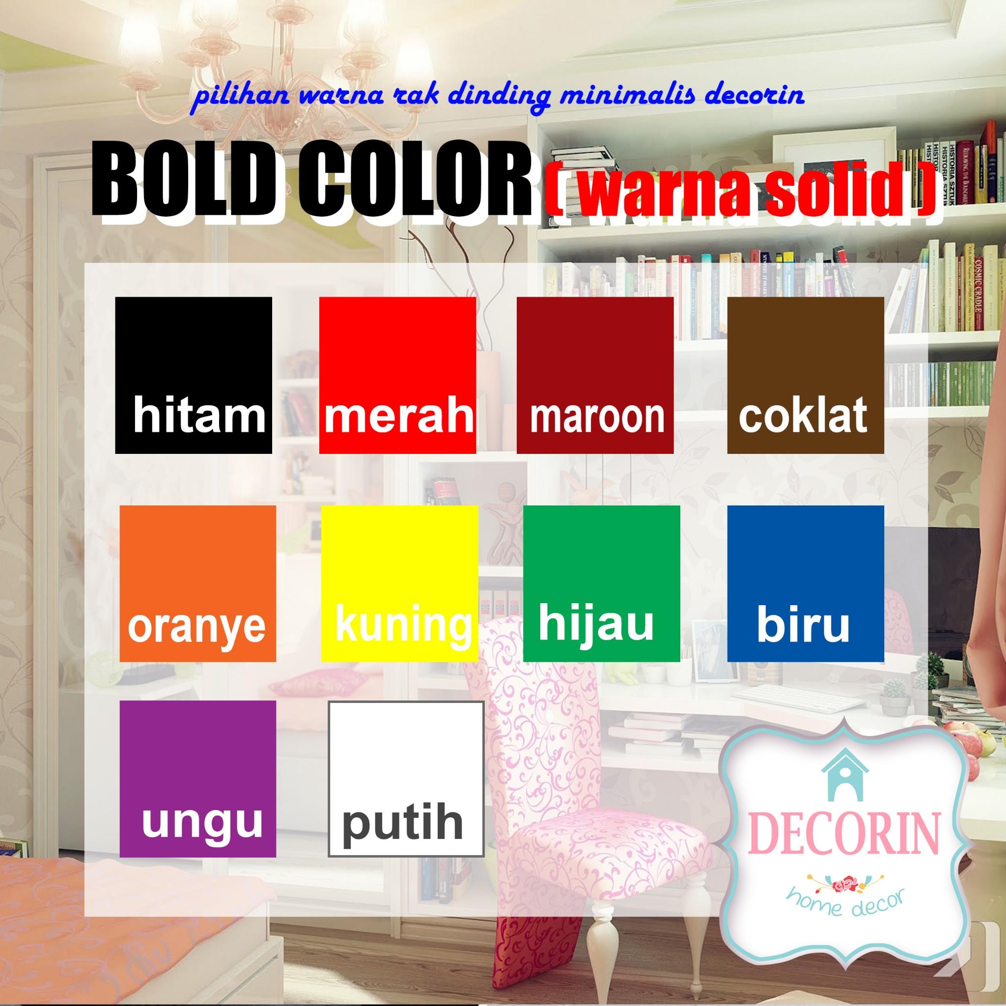Jual Pilihan Warna Bold Rak Dinding Minimalis Decorin Decorin