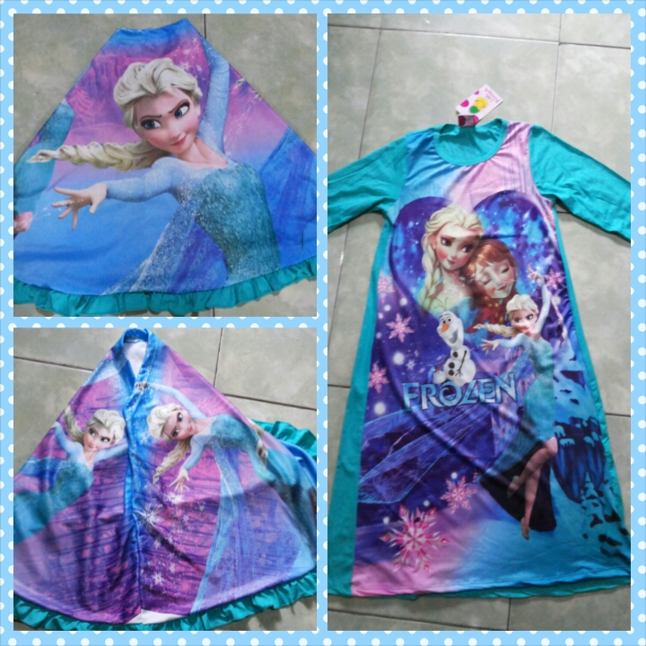Jual Frozen Gamis Frozen Gamis Terusan Frozen Baju Muslim