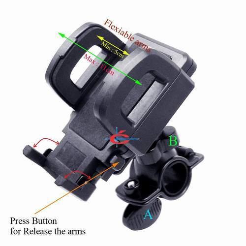 Holder HP GPS Stang Sepeda / Motor