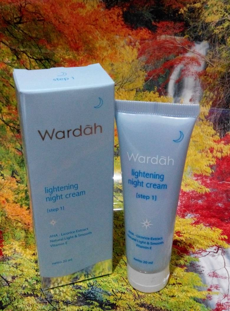 Jual Lightening Night Cream Step 1 Tube Kecil Darastore Tokopedia Wardah 20 Ml