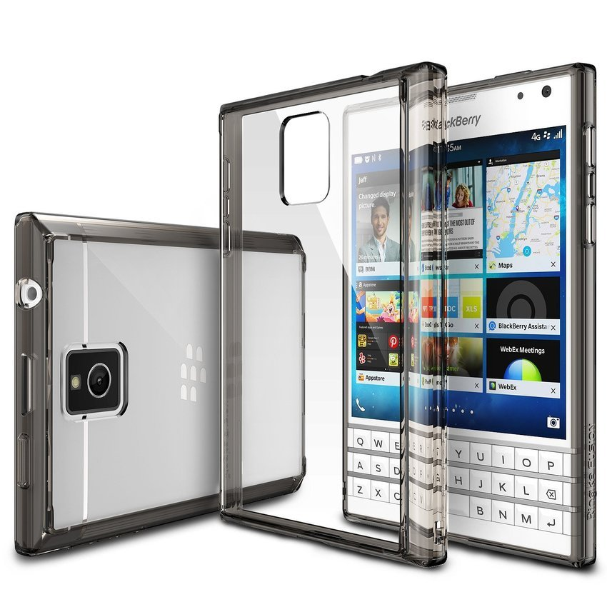 Rearth Ringke Blackberry PASSPORT FUSION Smoke Black