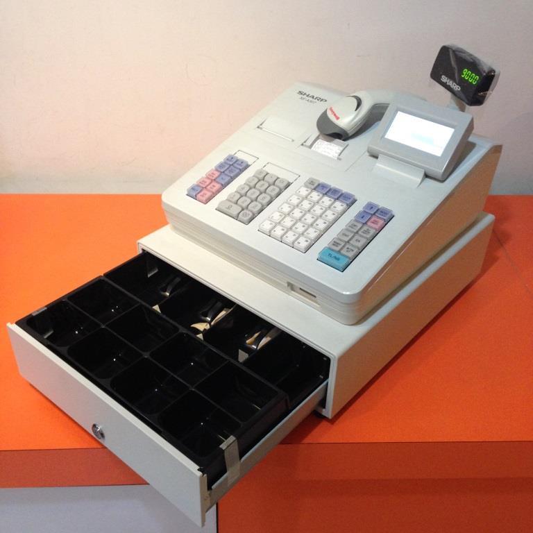 jual mesin kasir cashregister sharp xe a307 support barcode scanner cashregister tokopedia. Black Bedroom Furniture Sets. Home Design Ideas