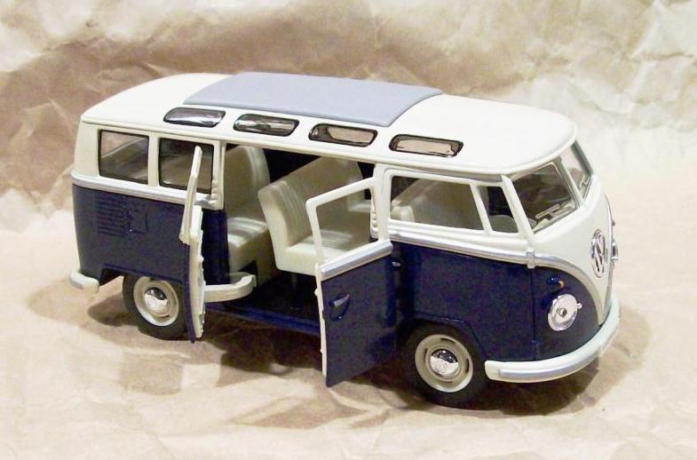jual besar 1 24 vw classical bus biru minaitur mobil classic salam store tokopedia. Black Bedroom Furniture Sets. Home Design Ideas