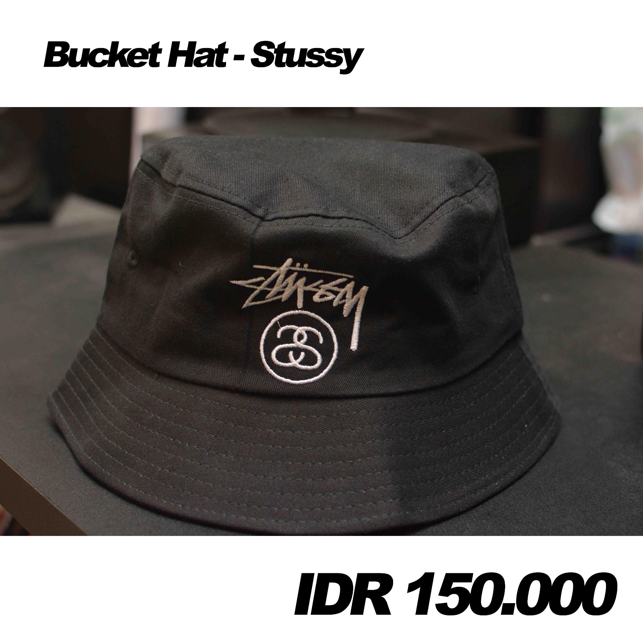 Jual Stussy - Bucket Hat Topi - TOPITOPI KU  406c93618e40