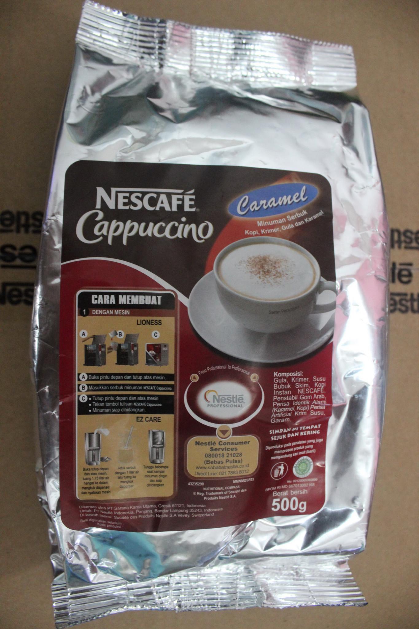 Nescafe Cappucino Caramel By Nestle Professional 500 Gram Daftar Classic 120gram Kualitas Hotel Resto Ampamp Cafe Harga Di Jakarta Barat Cappuccino