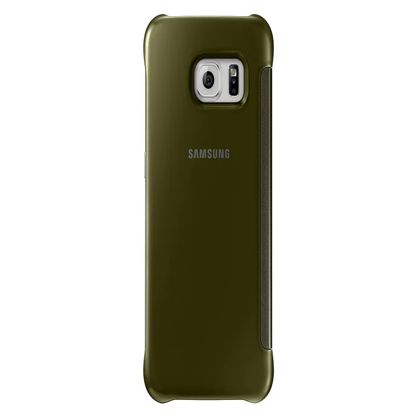 Samsung Clear View Cover Case Galaxy S6 Edge Plus - Gold
