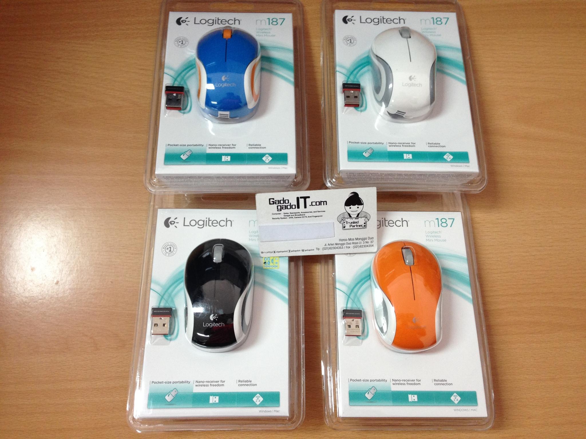 Jual Logitech M187 Wireless Mini Mouse White Gado It Tokopedia