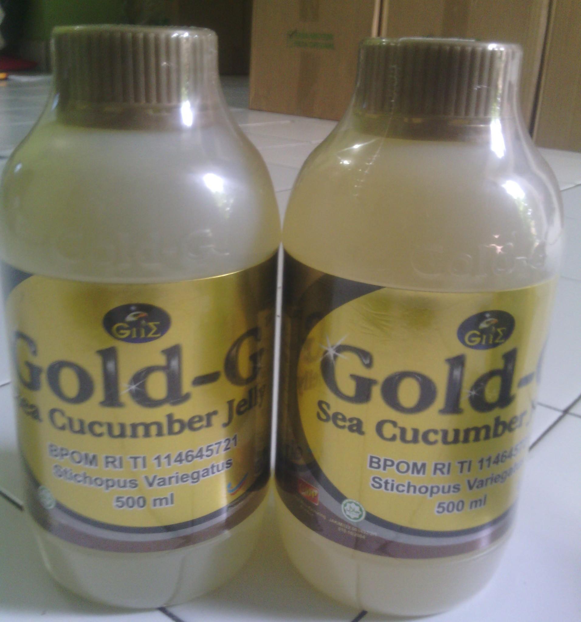 Jual Jelly Gamat Gold G 500ml, Obat Herbal Gamat, Obat Asam Urat - Hilda Jelly Gamat | Tokopedia