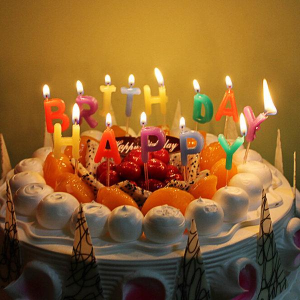 Праздничные торты фото со свечами