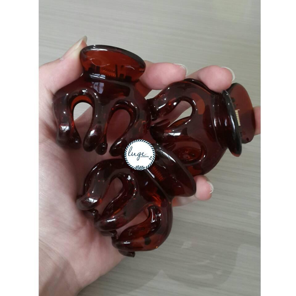 Jual Jedai Jepit Badai Coklat Transparan Set Luge89 Tokopedia Rambut