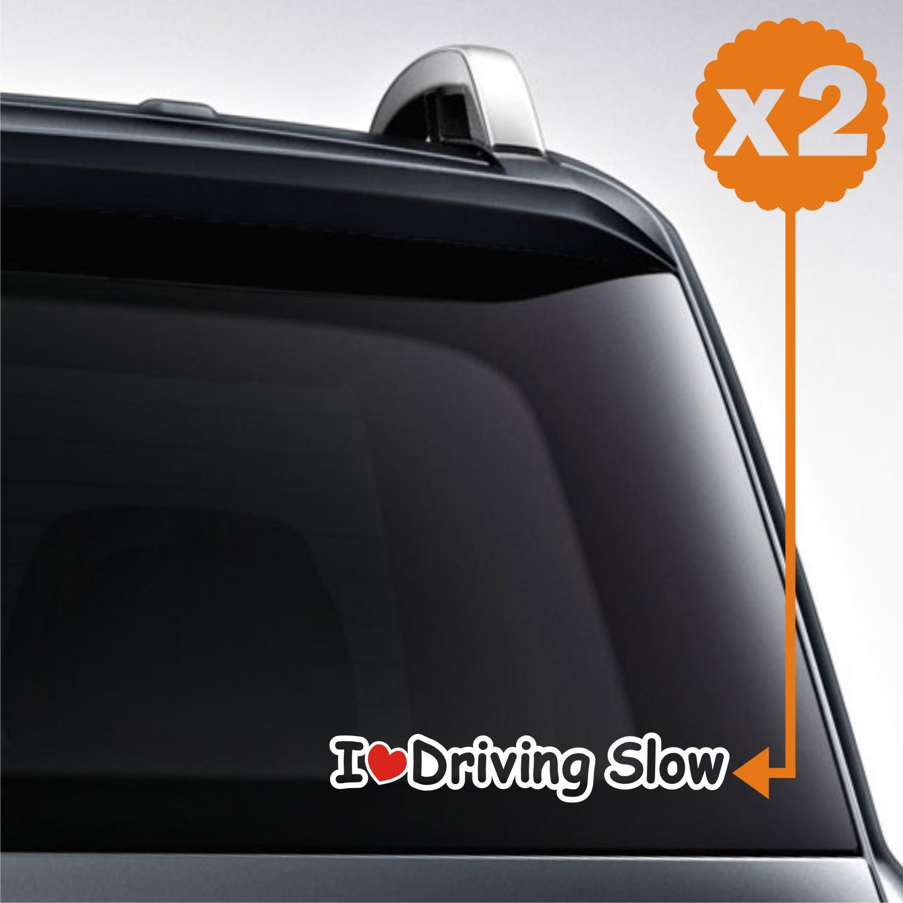 sticker mobil jdm driving slow corolla fiesta jazz terios 2x8