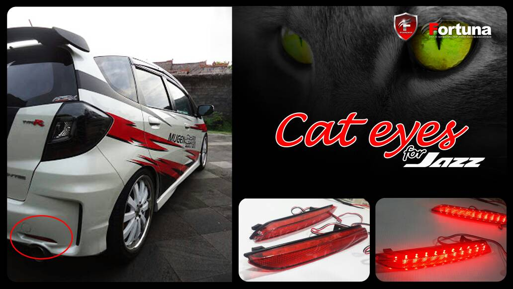 Lampu Mata Kucing Cat Eyes Honda Jazz
