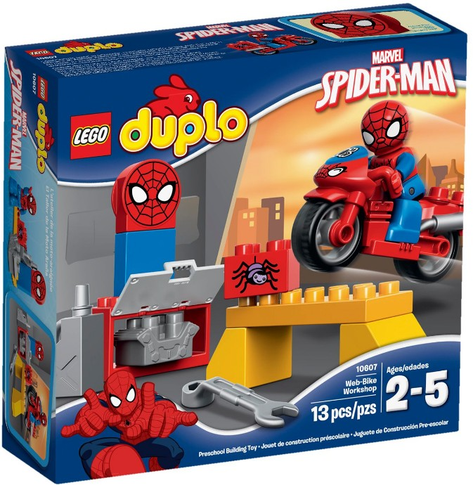LEGO # 10607 DUPLO SPIDERMAN WEB BIKE WORKSHOP