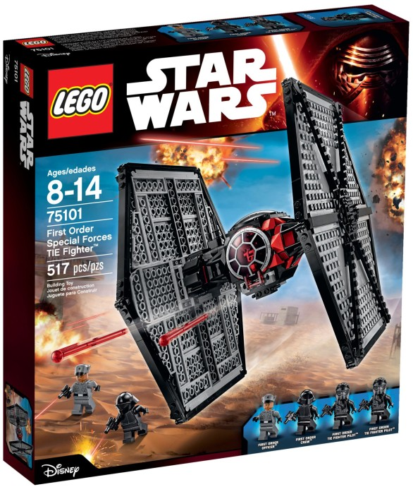 LEGO # 75101 STARWARS FIRST ORDER SPECIAL FORCES TIE FIGHTER