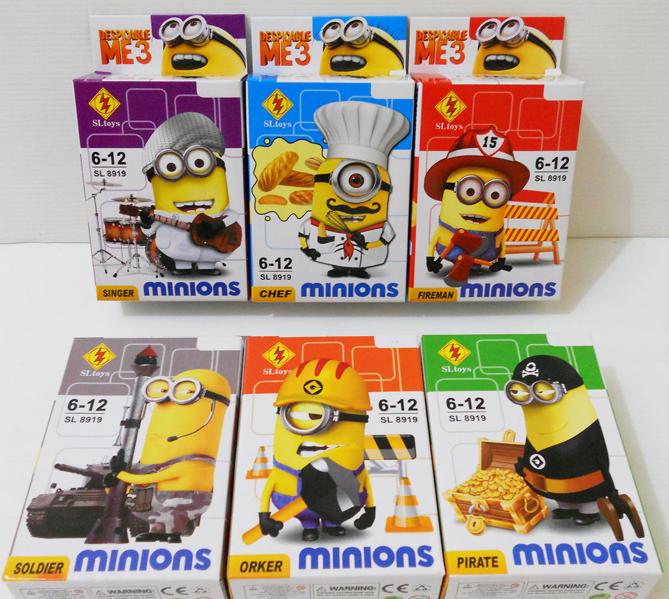 Jual lego Minion mini figure set 6 - Hipoo Toys BSD