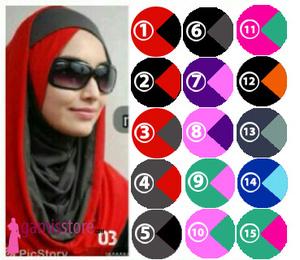 Hijab/Jilbab Hoodie Sirpol Silang