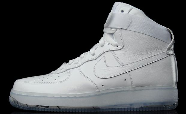 nike air force 1 high top all white