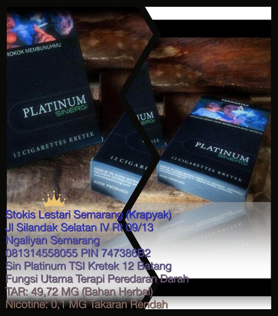 Jual Rokok Herbal Sin Tsi Tridaya Tokopedia Platinum