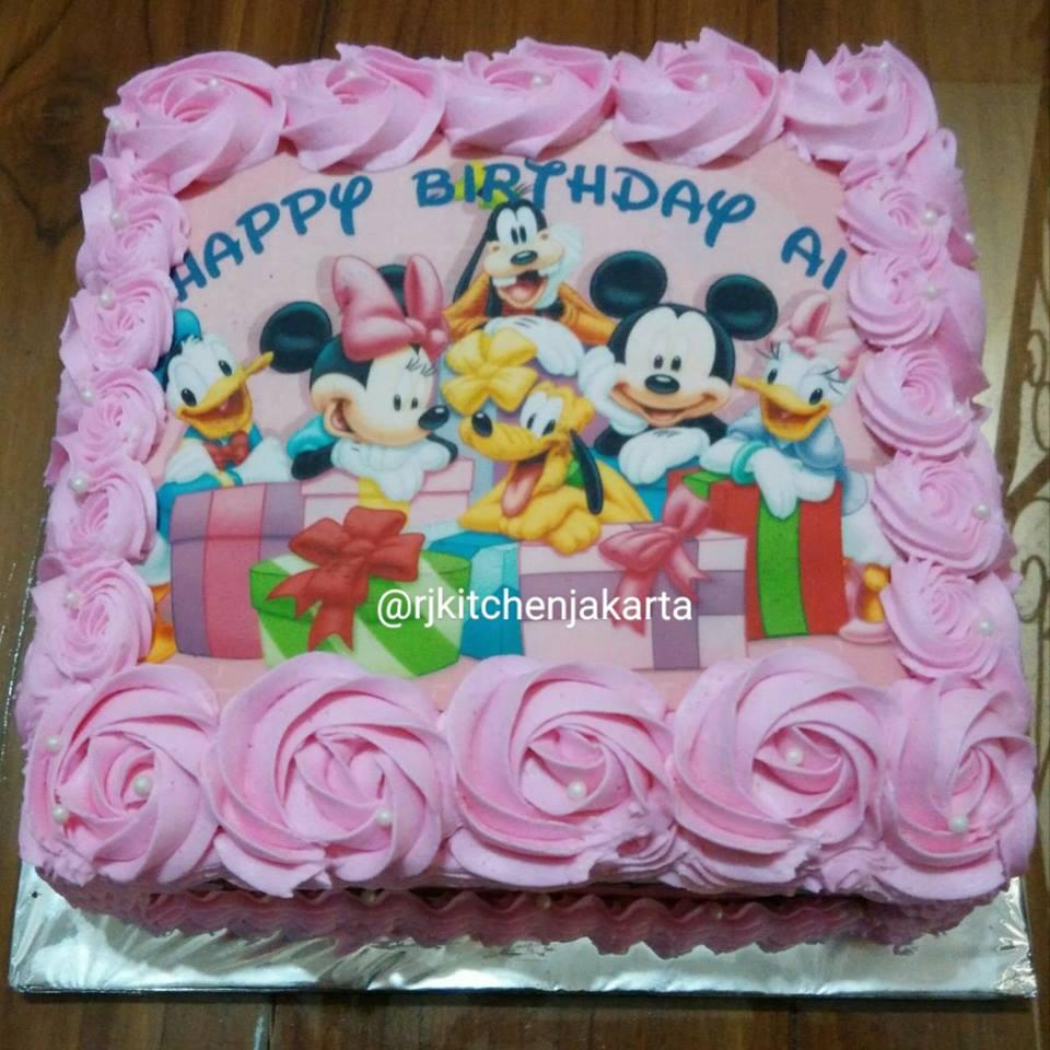 Jual Edible Birthday Cake Family Disney (Kue Ulang Tahun
