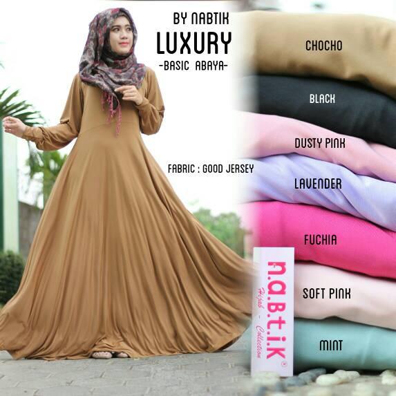 supplier baju hijab : luxury dress ori by nabtik / dress payung