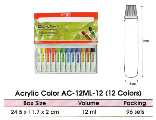 Titi Cat Akrilik Acrylic Color Ac-12ml-12