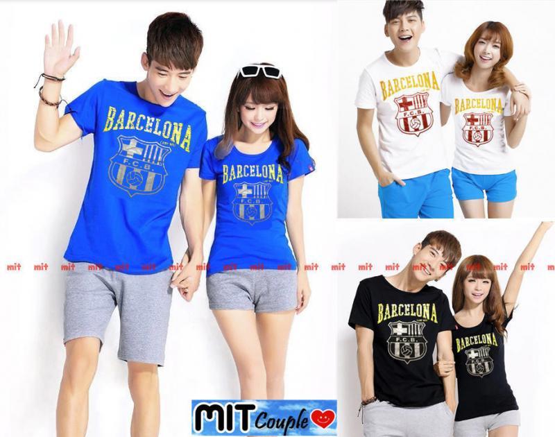 bfce0533d3 Jual Kaos Couple Lengan Pendek / Baju Pasangan Barcelona - Jakarta Pusat - Grosir  Baju Couple :) | Tokopedia