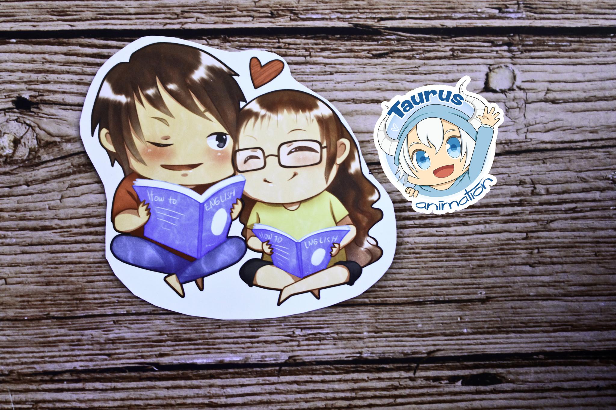 Jual Custom Couple Chibi Character 2 Character Taurus Animation