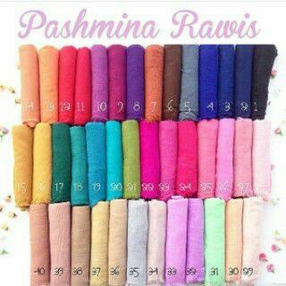 hijab pashmina rawis