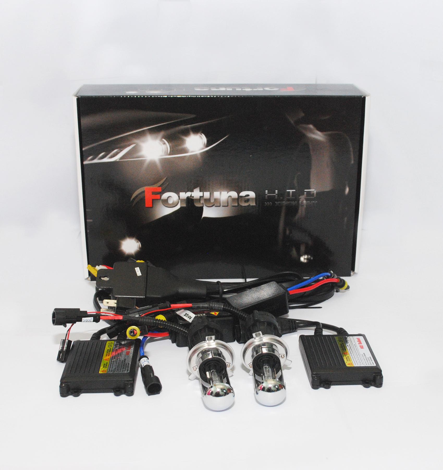harga Lampu Mobil HID Fortuna Black AC Hi/Lo H4 4300K Tokopedia.com