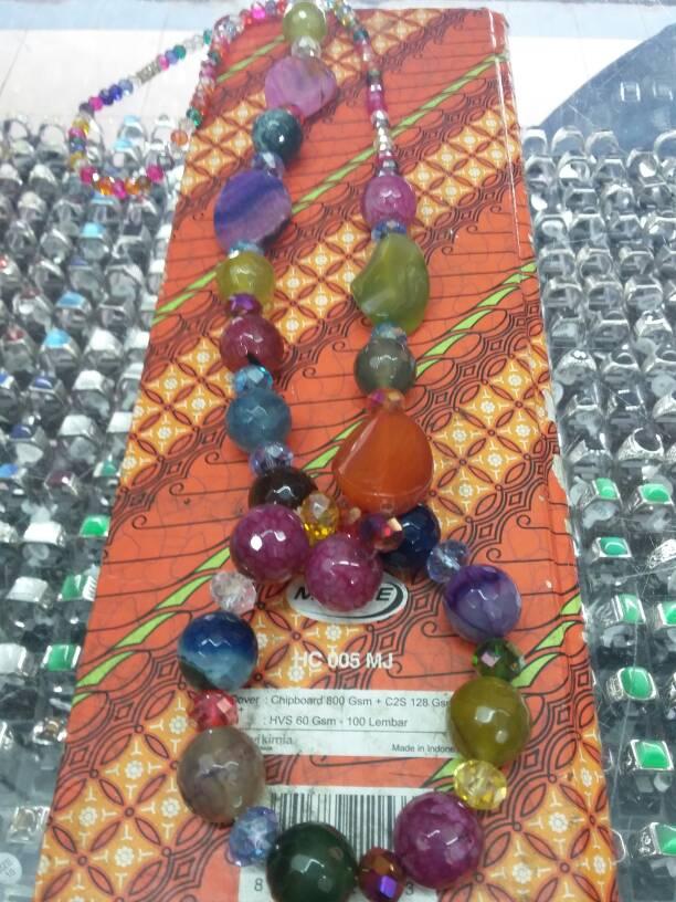 Jual Kalung Batu Akik Kombinasi Cristal Gelang