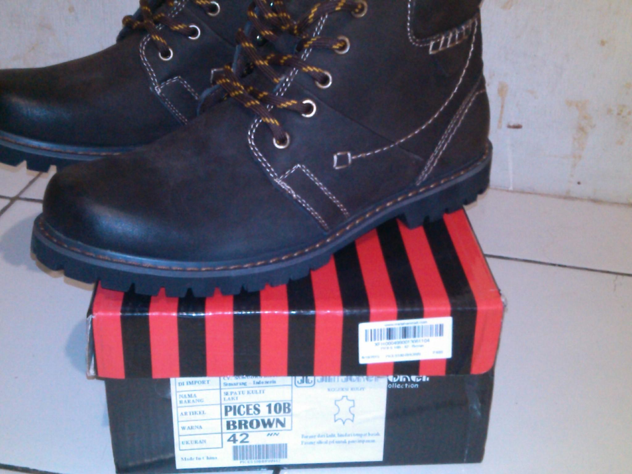 Harga Jual Sepatu Boot Jim Joker 2nd Boots Casual Haper 72 Coffee Original Shoes Pices 10b