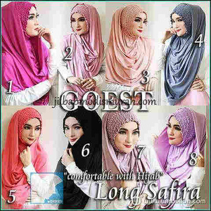 Hijab/Jilbab Instant Long Shafira