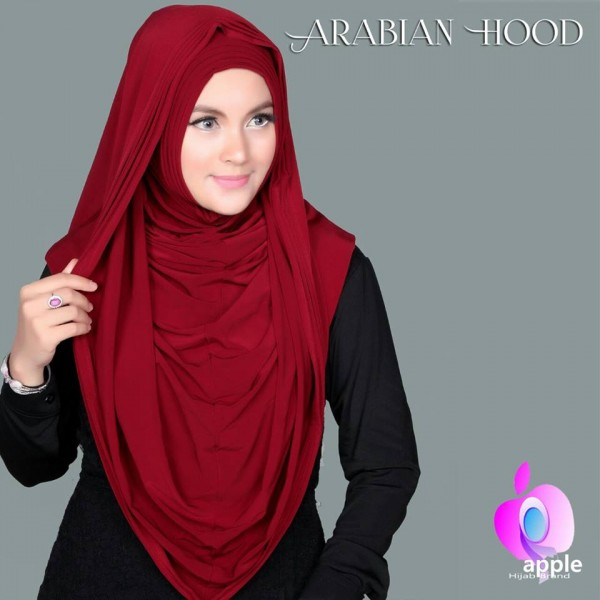 Hijab/Jilbab Kerudung Instant Arabian Hoodie (Versi Premium) SUPER