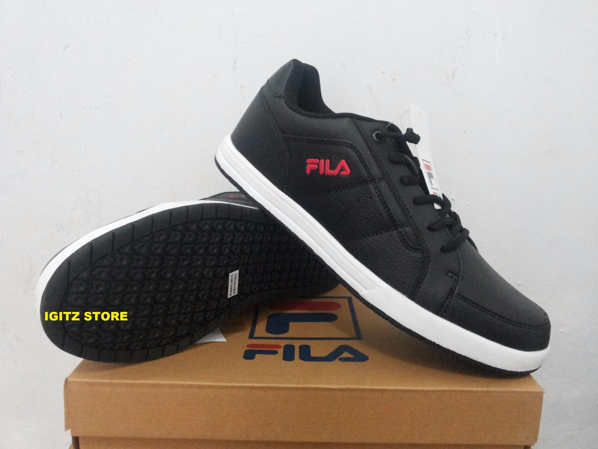 Jual Sepatu Casual Sneakers FILA LORDE Black Original - IGITZ ... 821c57ba30