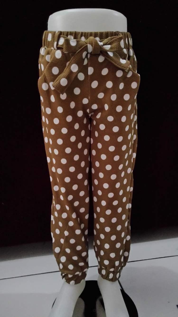 CLKD9 - Celana Joger Anak Brown Dot Murah