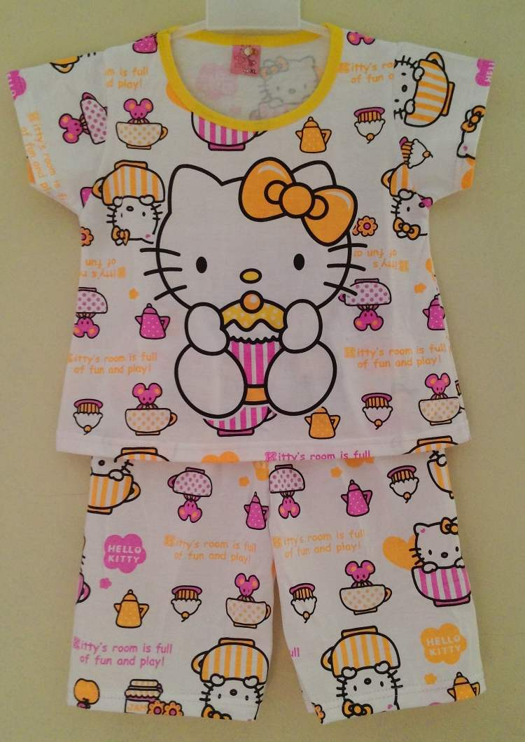 STKDHK102 - Setelan Anak Hello Kitty Cupcake Yellow