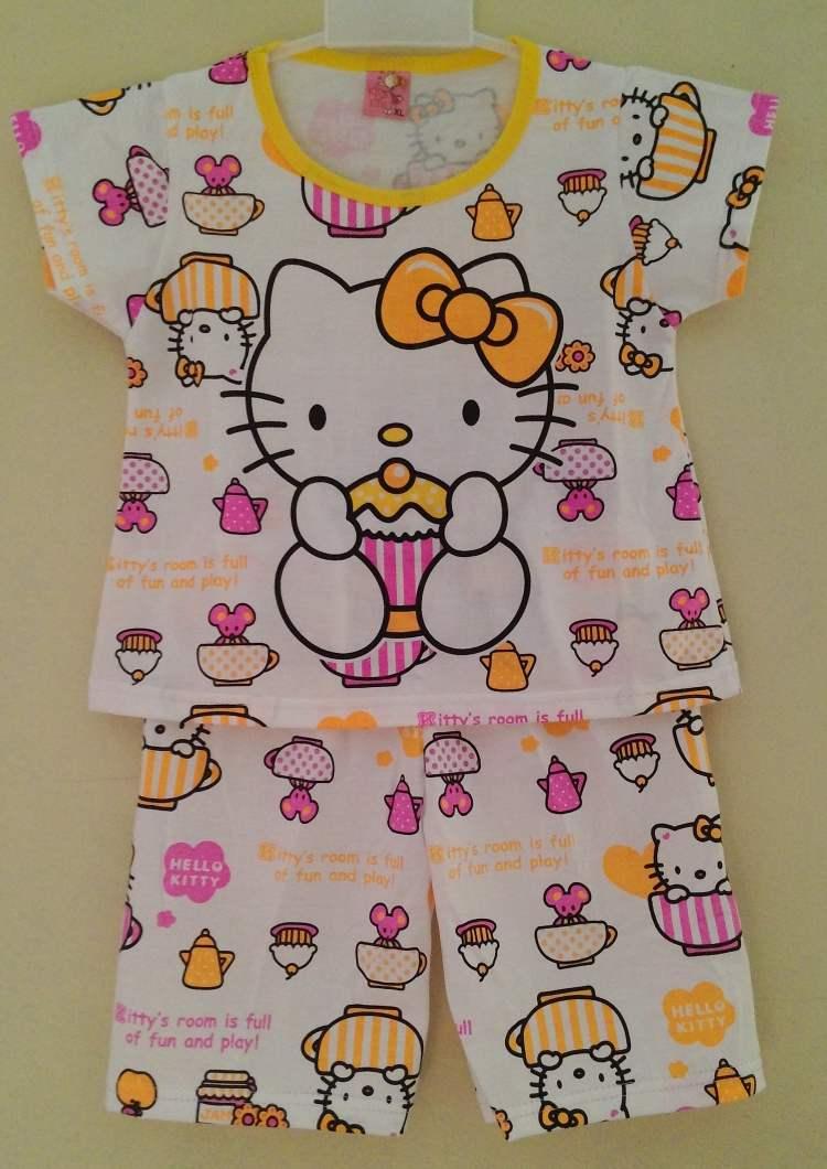 STKDHK102 - Setelan Anak Hello Kitty Cupcake Yellow Murah