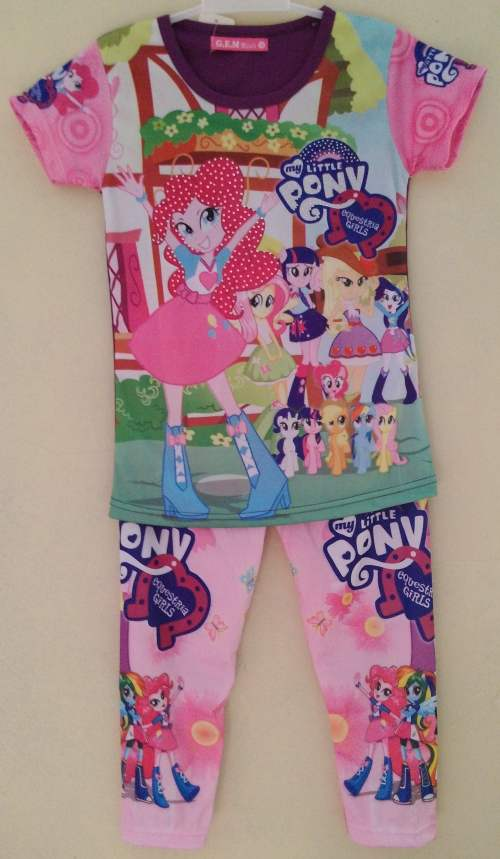 STKD207 - Setelan Anak My Little Pony Equestria Girl Purple