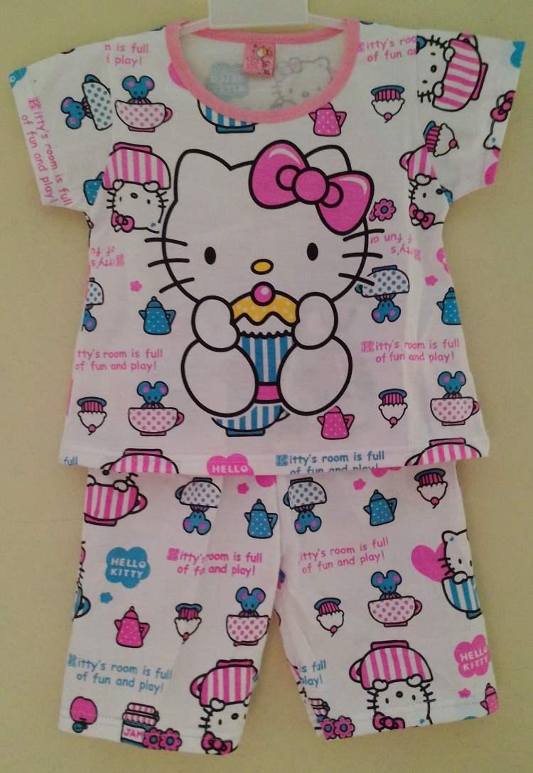 STKDHK104 - Setelan Anak Hello Kitty Cupcake Pink