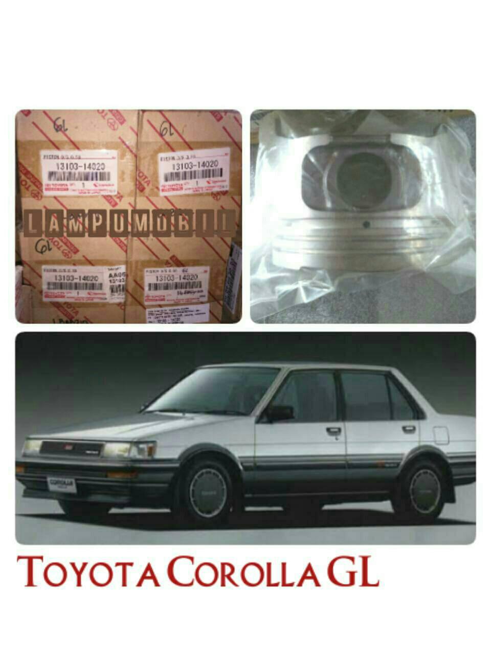 O/S 0.50- Piston Set Toyota Corolla GL AE80 Original Astra