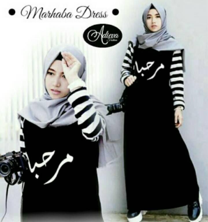 baju hijab wanita marhaba dress ( grosir baju muslim murah wanita )