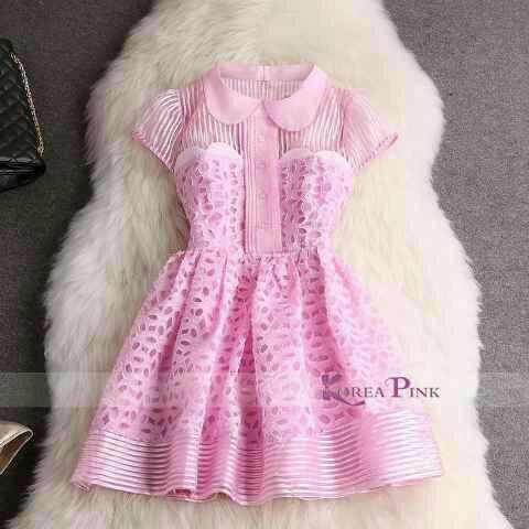 Dress Anak Korea Pink Import