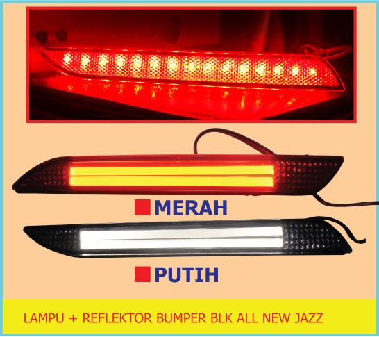 Lampu + Reflektor Bumper Belakang All New HONDA JAZZ