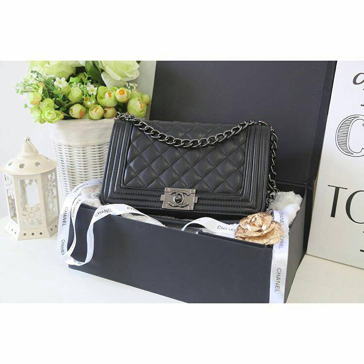 Jual Tas Chanel Leboy Kw Super Import (black) - WD Collection1 ... 409eea9f2b