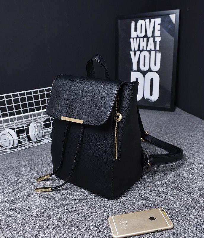 tas ransel punggung backpack wanita hitam import fashion polos kuliah a14b14a347